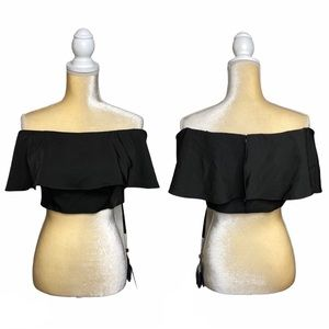 LUCCI LU Cropped Off The Shoulder Bustier Top